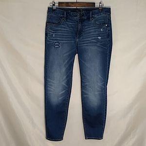 White House Black Market skinny ankle jeans sz 6P